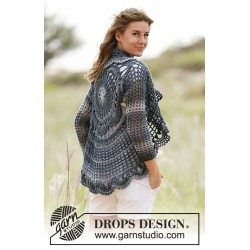 Image of   Evening tide by drops design s-xxxl drops big delight garn cardigan