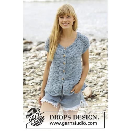 Shore Line Cardigan by DROPS Design S-XXXL DROPS BIG MERINO