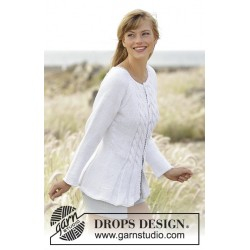 Image of   Romantic twist by drops design s-xxxl drops paris garn strikkekits