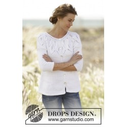Summer Leaves Cardigan by DROPS Design S-XXXL DROPS MUSKAT