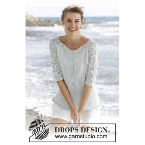 Sea Nymph Cardigan by DROPS Design S-XXXL DROPS MUSKAT