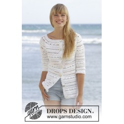 Seashore Bliss Cardigan by DROPS Design S-XXXL DROPS COTTON LIGHT