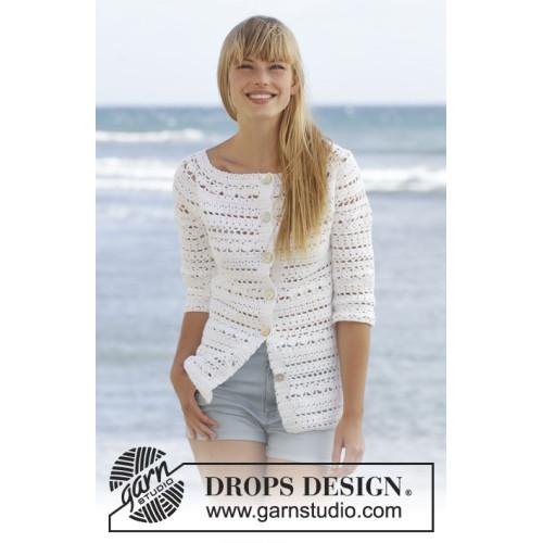 Seashore Bliss Cardigan by DROPS Design S-XXXL DROPS COTTON LIGHT