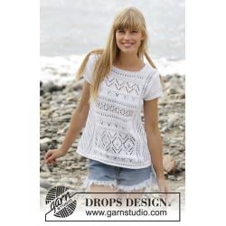 Erica Top by DROPS Design S-XXXL DROPS COTTON LIGHT