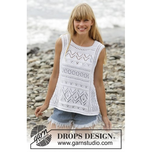 Erica Singlet by DROPS Design S-XXXL DROPS COTTON LIGHT