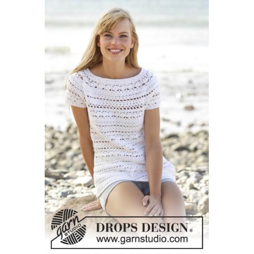 Seashore Bliss Top by DROPS Design S-XXXL DROPS MUSKAT