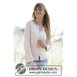 Image of   Jolly may by drops design xs-xxxl drops baby merino garn cardigan