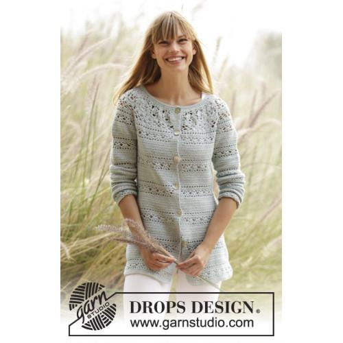 Sweet Mint Cardigan by DROPS Design S-XXXL DROPS SAFRAN