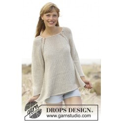 Image of   Everyday comfort by drops design s-xxxl drops bomull-lin garn bluse