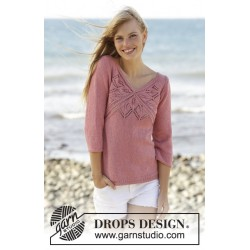 Image of   Butterfly heart by drops design s-xxxl drops belle garn bluse