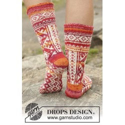 Mexican Sunset by DROPS Design 35-43 DROPS FABEL