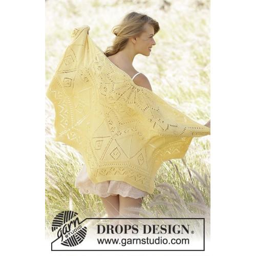 Spring Splendor by DROPS Design Bredde øverst: 140 cm. Længde midt på: 70 cm. DROPS COTTON MERINO