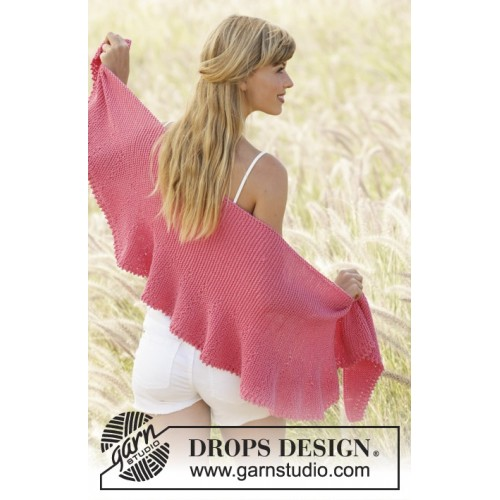 Pink Sorbet by DROPS Design Længde midt på: ca 33 cm. Bredde: ca 140 cm. DROPS COTTON MERINO