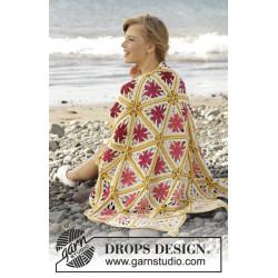 Spring Daze by DROPS Design Bredde: 93 cm. Længde: 130 cm DROPS PARIS