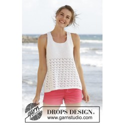 Holiday bliss by drops design s-xxxl drops cotton light garn top