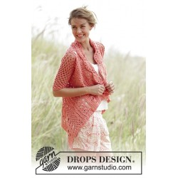 Image of   Peach dream by drops design s-xxxl drops paris garn strikkekits