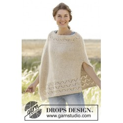 So classy! by drops design s-xxxl drops air garn poncho