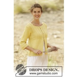 Image of   Golden blossom by drops design s-xxxl drops belle garn strikkekits