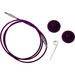 KnitPro Kabel/wire til udskiftelig rundpinde, 100 cm (med dine pinde)