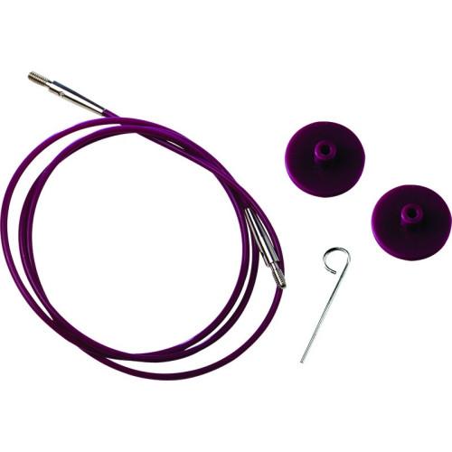 KnitPro Kabel/wire til udskiftelig rundpinde, 120 cm (med dine pinde)