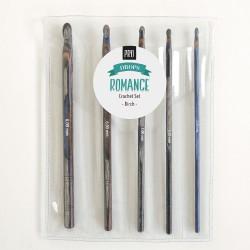 Hæklenålesæt med 5 størrelser, 15 cm Pro Romance
