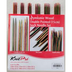 Symfoni strømpepinde sæt med 5 størrelser 2mm - 4 mm, 15 cm, KnitPro