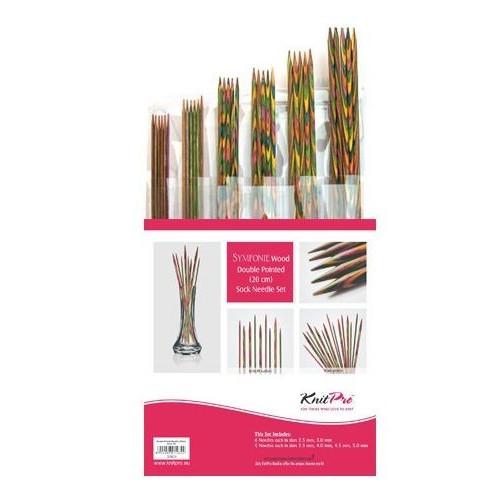 Symfoni strømpepinde sæt med 6 størrelser 2.5mm - 5mm, 20 cm, KnitPro