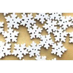 Snefnug træknapper, Pose med 10 knapper, 18,5mm