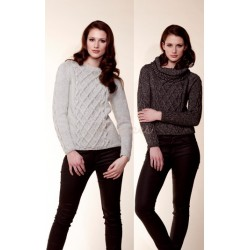 Raglansweater med snoninger, rico design 16951