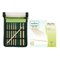 KnitPro Bamboo tunesisk hæklenål sæt 3,5-8 mm 22550