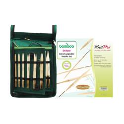 KnitPro Bamboo udskifteligt rundpindesæt 3-5 mm