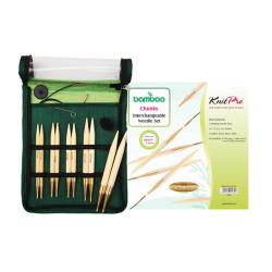 KnitPro Bamboo udskifteligt rundpindesæt 6-10 mm