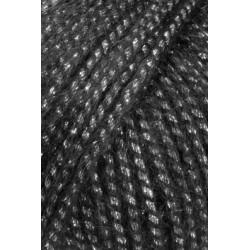 Lang Yarns Malou, farve sort med sølv glimmer, 50g