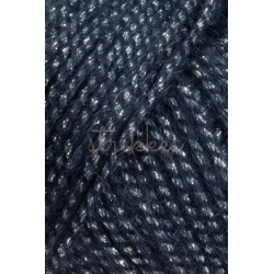 Lang Yarns Malou Luxe, farve mørk blå med sølv glimmer, 50g