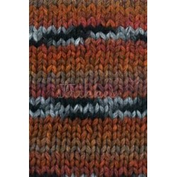 Lang Yarns Cruz, farve orange/rust/sort/grå, 100g