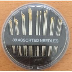 Æske med 30 stk assorterede størrelse nåle
