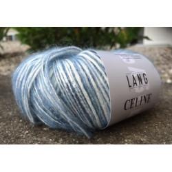Lang Yarns Celine, farve blå og råhvid