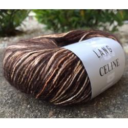 Lang Yarns Celine, farve lys og mørk brun