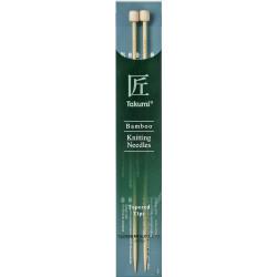 Clover Takumi jumperpinde bambus 23 cm, 8mm, tapered tips