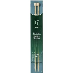 Clover Takumi jumperpinde bambus 23 cm, 10mm, tapered tips
