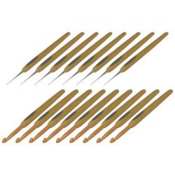 Clover Soft Touch sæt, 0,5-0,6-0.75-0,9-1-1,25-1,5-1,75-2-2,5-3-3,5-4-4,5-5-5,5-6mm, 17 nåle