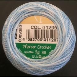 Anchor Artiste blondegarn multifarvet blå 01295, størrelse 80, 5g