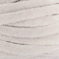 Stofgarn ribbonxl optic white/ hvid uni 3, 250g garn hoooked ribbon xl