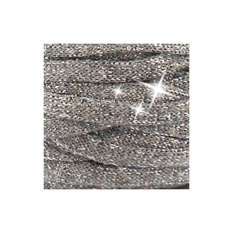 15048100 Stofgarn RibbonXL Lurex silver glitter/ grå med sølvglimmer LUR1, 250g