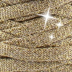 Stofgarn RibbonXL Lurex golden dutch/ beige guld glimmer LUR2, 250g