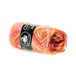 Mayflower Cotton 8/8 big print farve 1602 orange/gul/lyserød