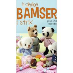Ti dejlige bamser i strik,112 sider, af Rachel Borello