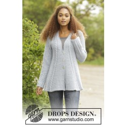 Image of   Bridget jacket by drops design s-xxxl drops alpaca/drops kid-silk