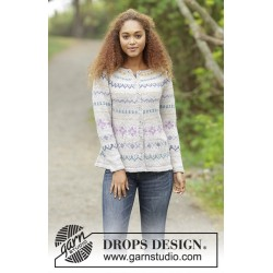 Image of   Candy lane cardigan by drops design s-xxxl drops karisma garn