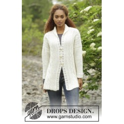 Image of   Irish winter cardigan by drops design s-xxxl drops alpaca/drops
